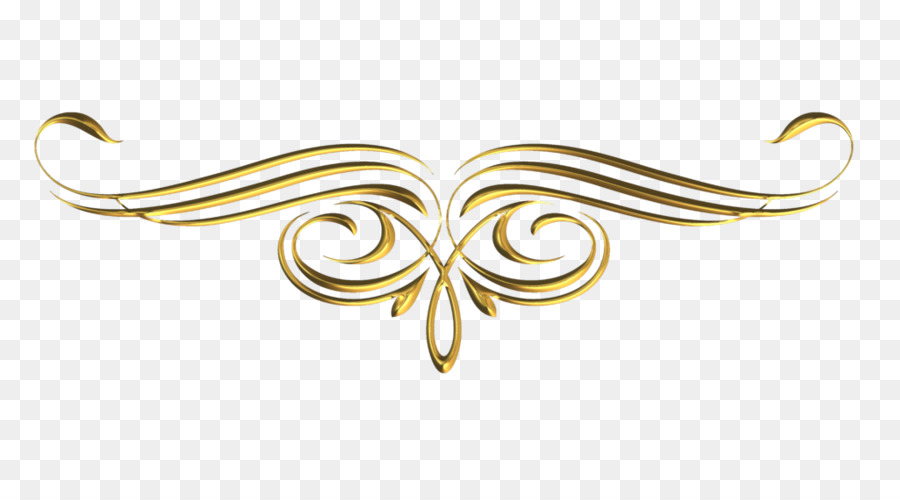 Clipart Gold Scroll Design