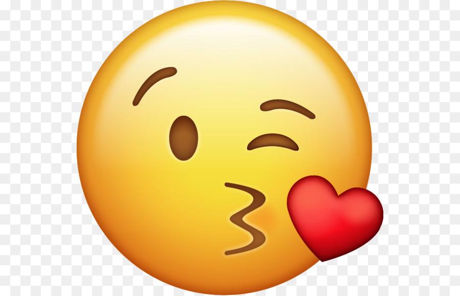 Emoji-Kuss-Symbol 2 Clip-art - Kuss png herunterladen