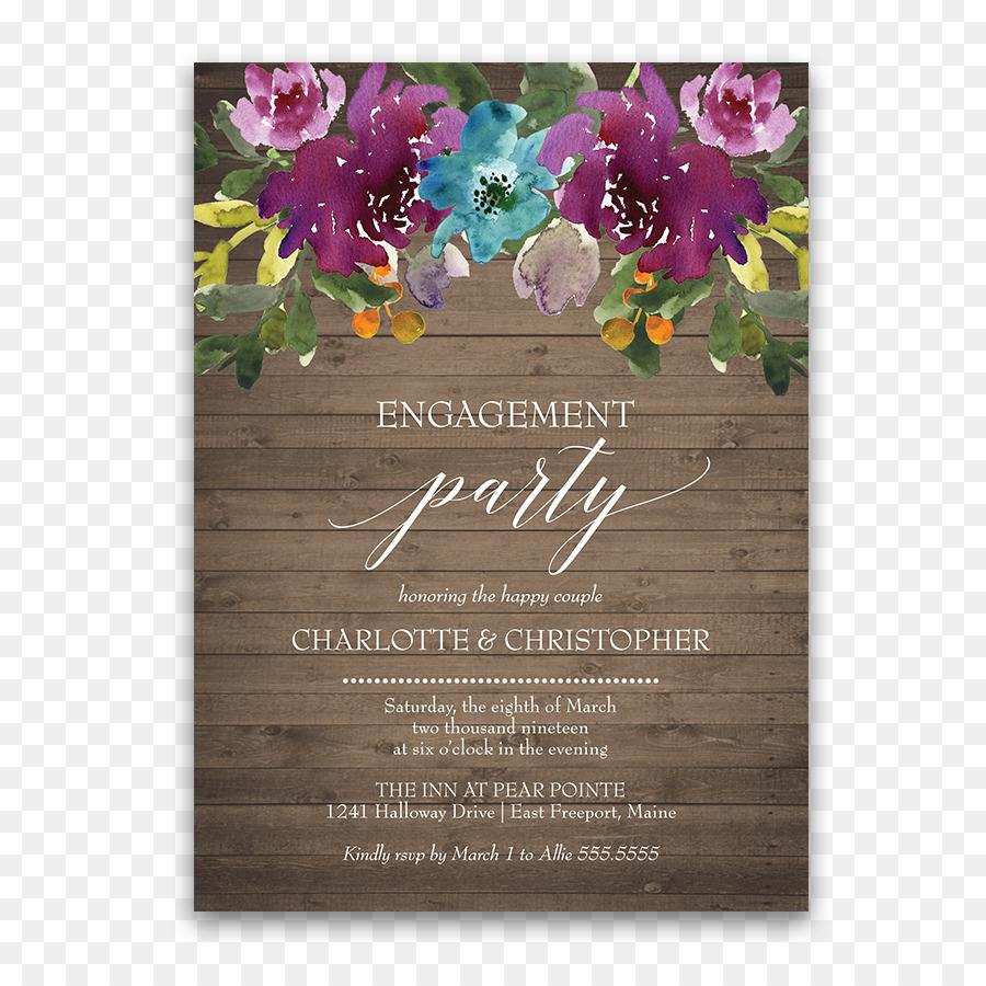 Floral Wedding Invitation Background Png Download 900900