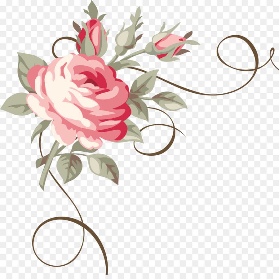 Bouquet Of Flowers Drawing Png Download 14141392 Free