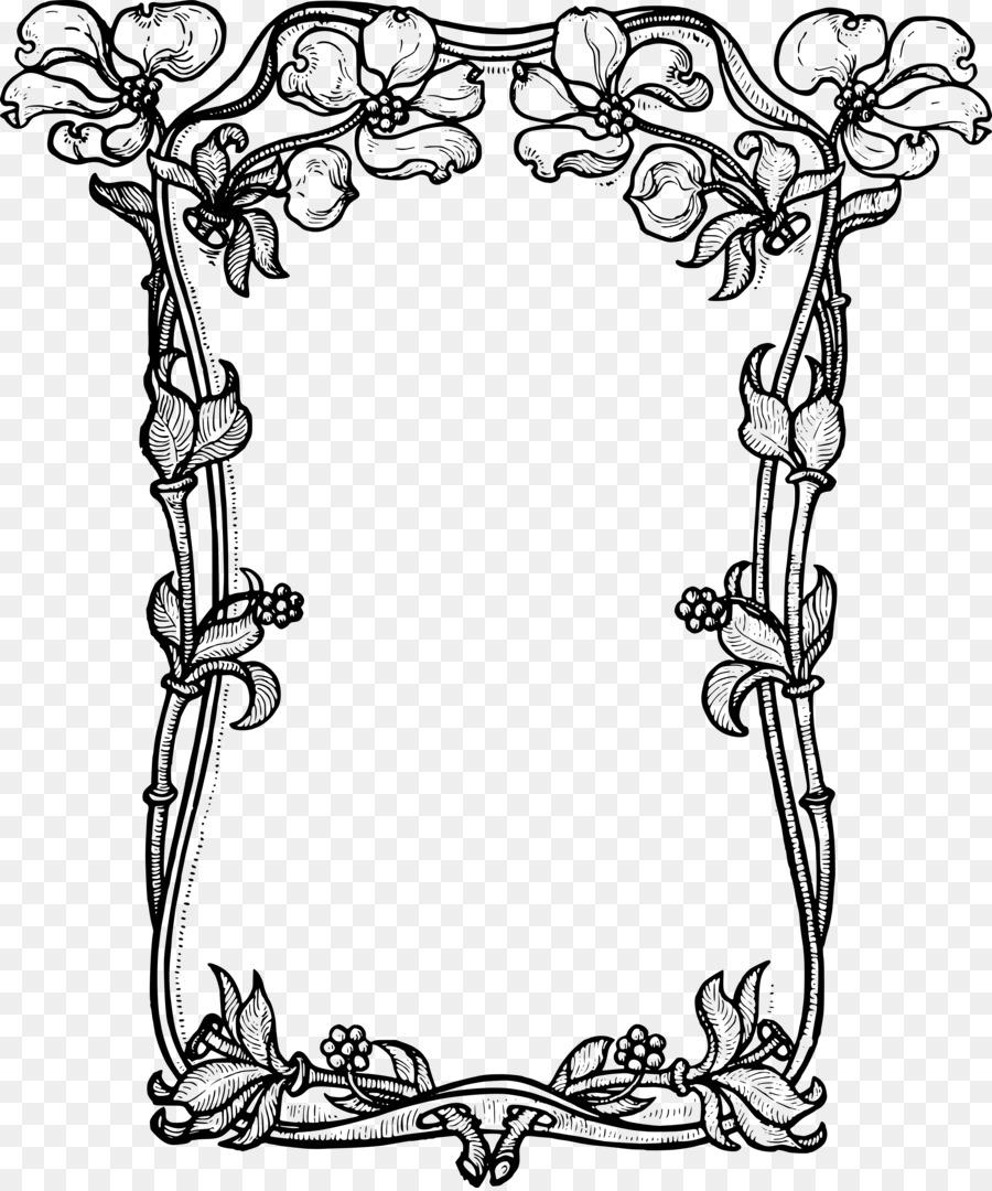 Cornici Disegno Bianco E Nero.Cornici Fiore Bianco E Nero Clip Art Vettore Confini