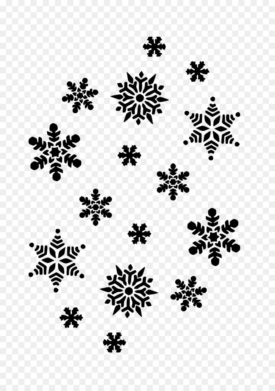 Fiocco Di Neve Bianco E Nero Clip Art Fiocchi Di Neve Scaricare