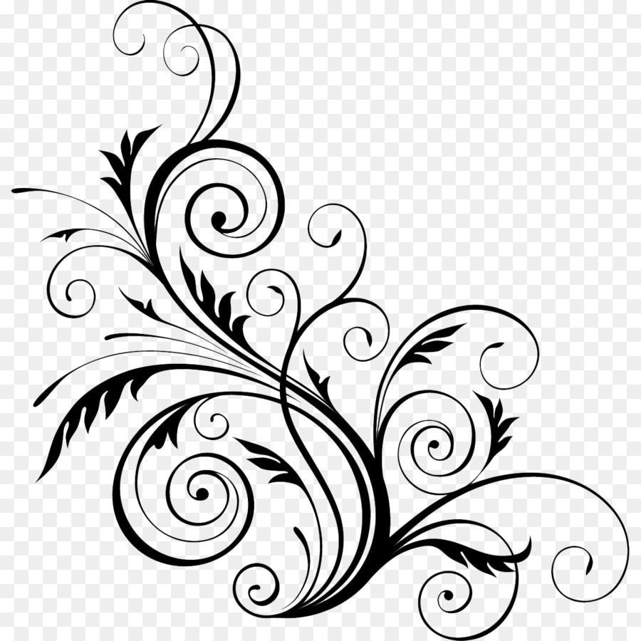 20+ Latest Black Line Art Flower Design Png