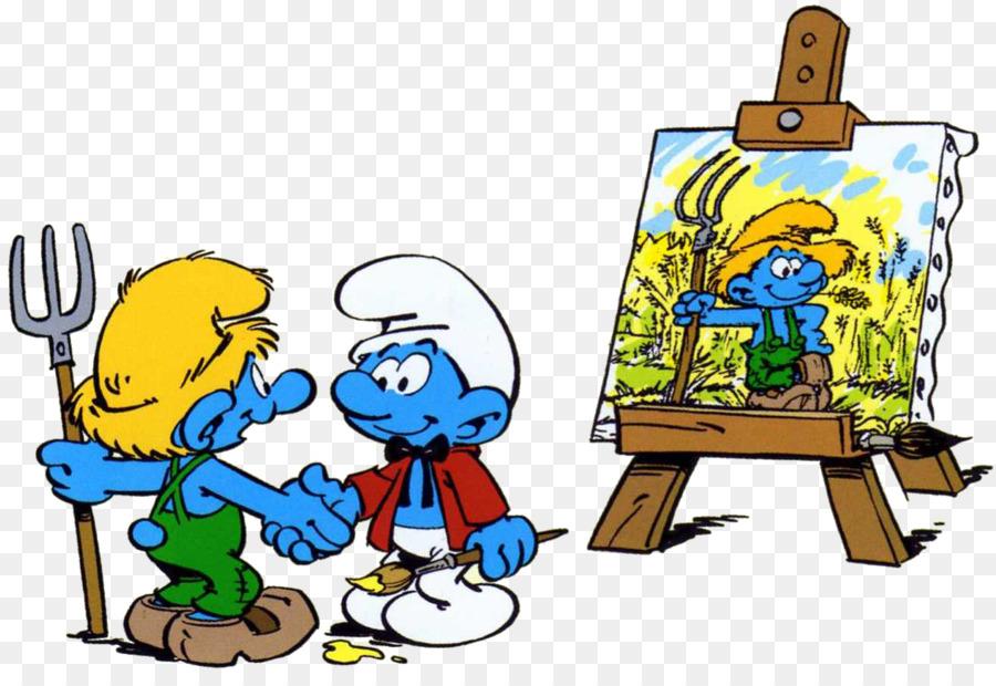 Die Schlumpfe Schildersmurf Kunst Zeichnung Schlumpf Png Herunterladen 1317 891 Kostenlos Transparent Png Herunterladen