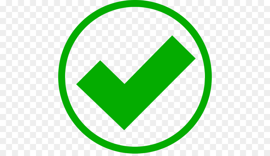 Symbol grüner haken Haken in