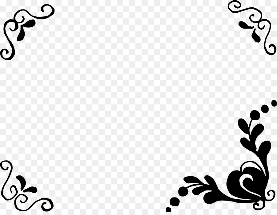 Black And White Flower Png Download 2090 1604 Free Transparent