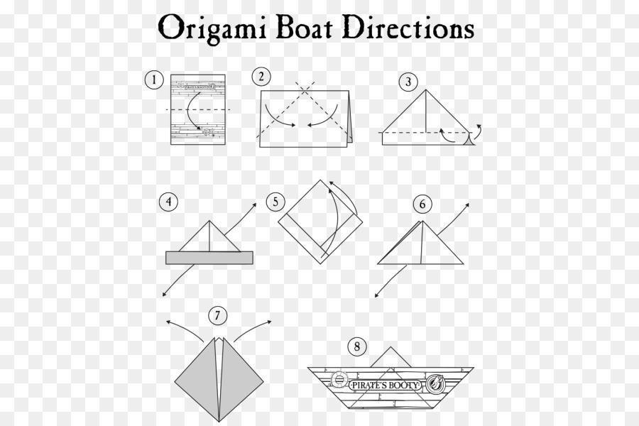 Paper craft Boot Origami Falten - Origami png herunterladen ... on