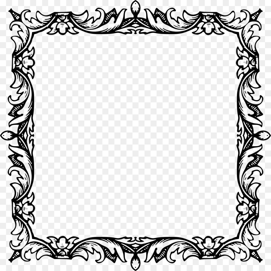 Black And White Frame png download , 2284*2284 , Free