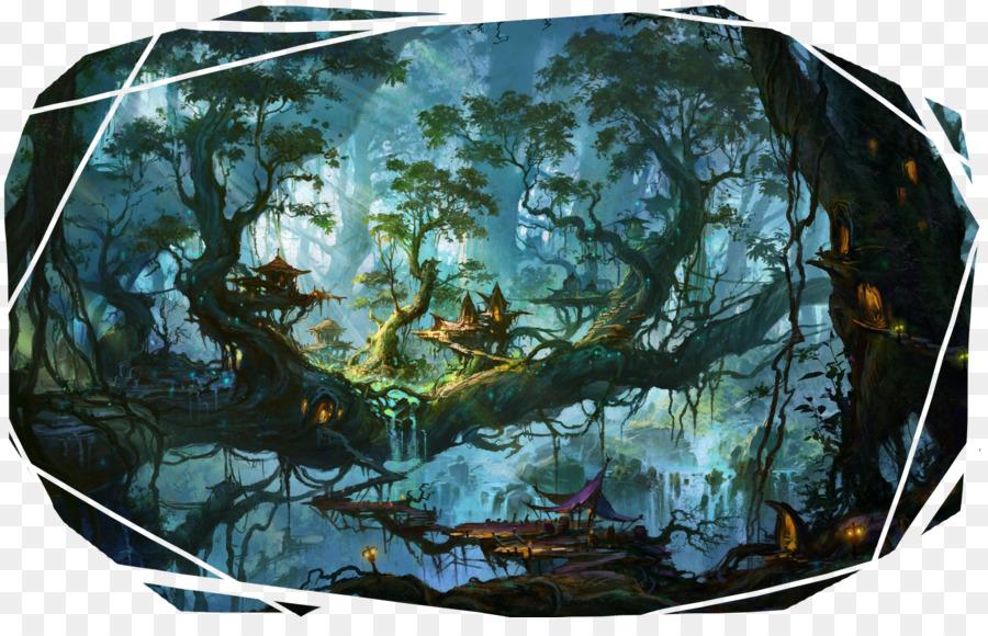 Desktop Hintergrundbild Wald Fantasy Handys Fantasy Stadt Png Herunterladen 2600 1625 Kostenlos Transparent Wasser Png Herunterladen