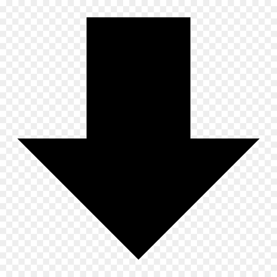 Down Arrow Symbol png download - 1024*1024 - Free Transparent ...