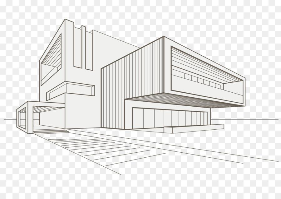 рисунок здания в стиле модерн вырезанные