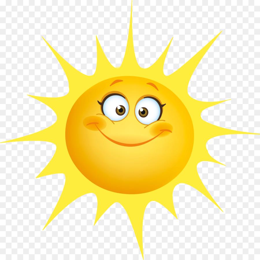 Smiley Emoticon clipart - cartoon Sonne png herunterladen