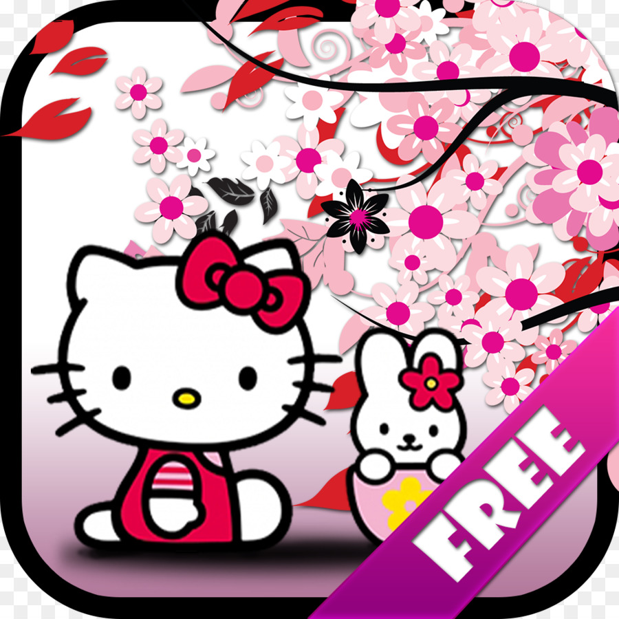 Hello Kitty Background Png 1024 1024 Free