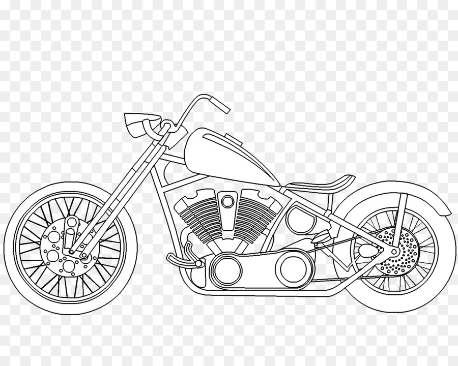 Chopper Motorrad Malbuch-Harley-Davidson-Auto - Dem Motorrad Png