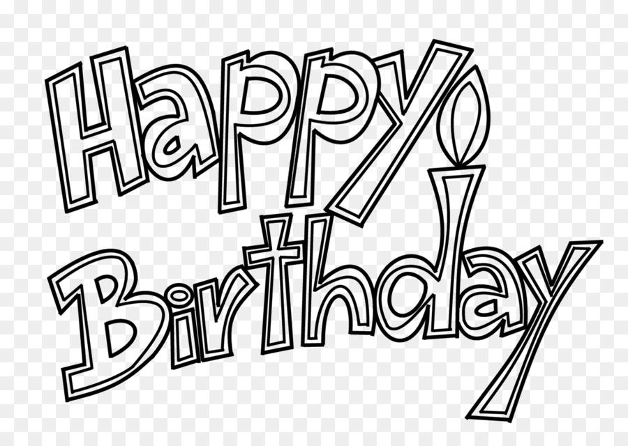Libro Da Colorare Torta Di Compleanno Con Disegno Saluto Carte Di Nota Buon Compleanno Scaricare Png Disegno Png Trasparente Linea Arte Png Scaricare
