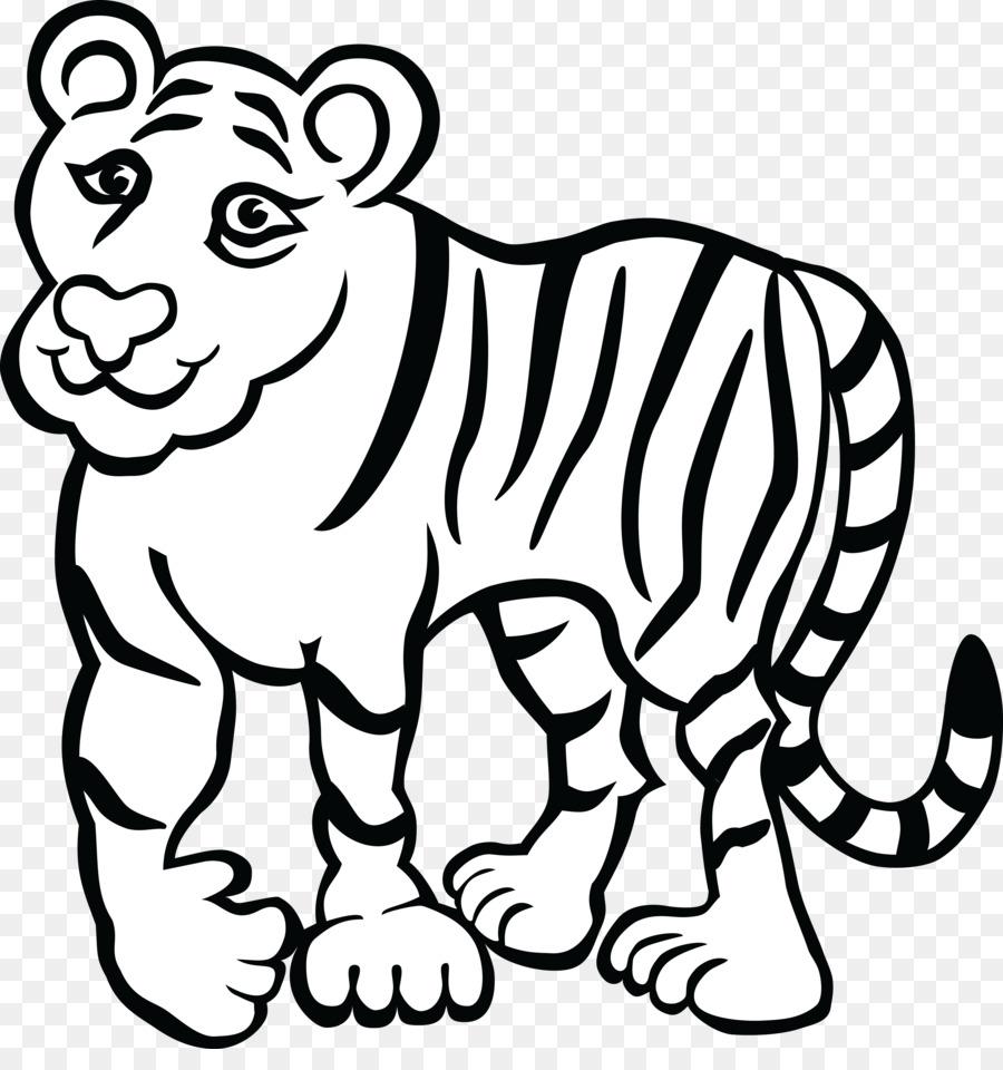 Libro Da Colorare Tigre Del Bengala Adulto Di Tigre