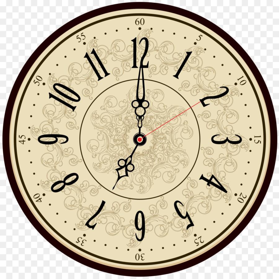Alte Runde Uhr   Public Domain Vektoren