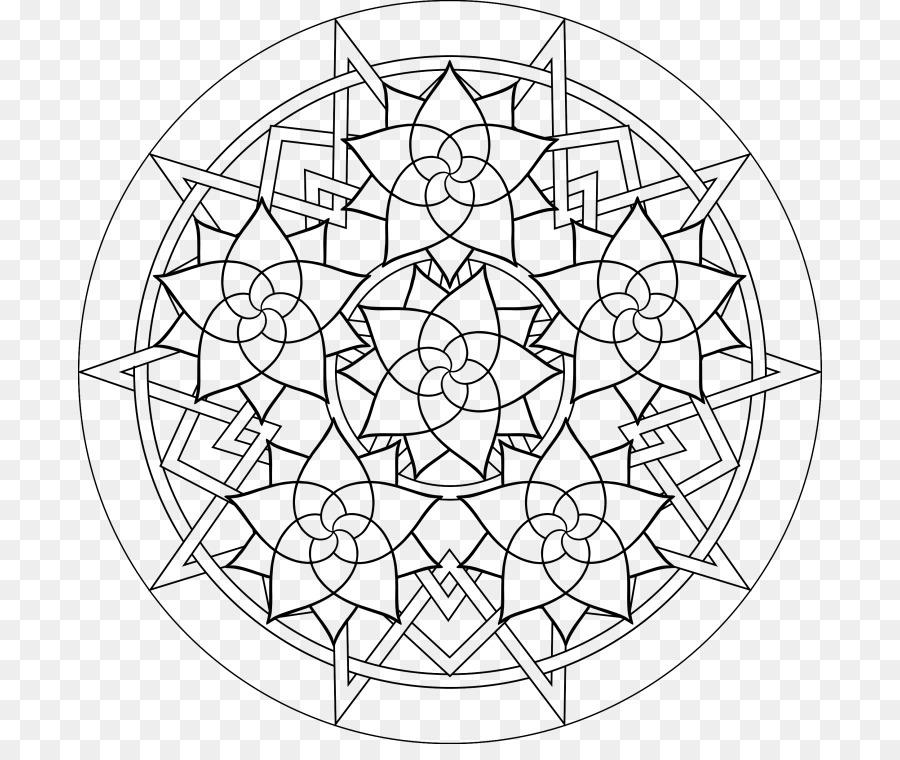 Buddhist Mandala Coloring Pages