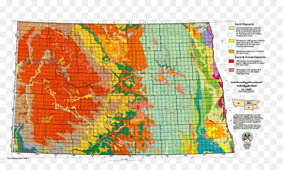 North Dakota Topographische Karte von South Dakota ...