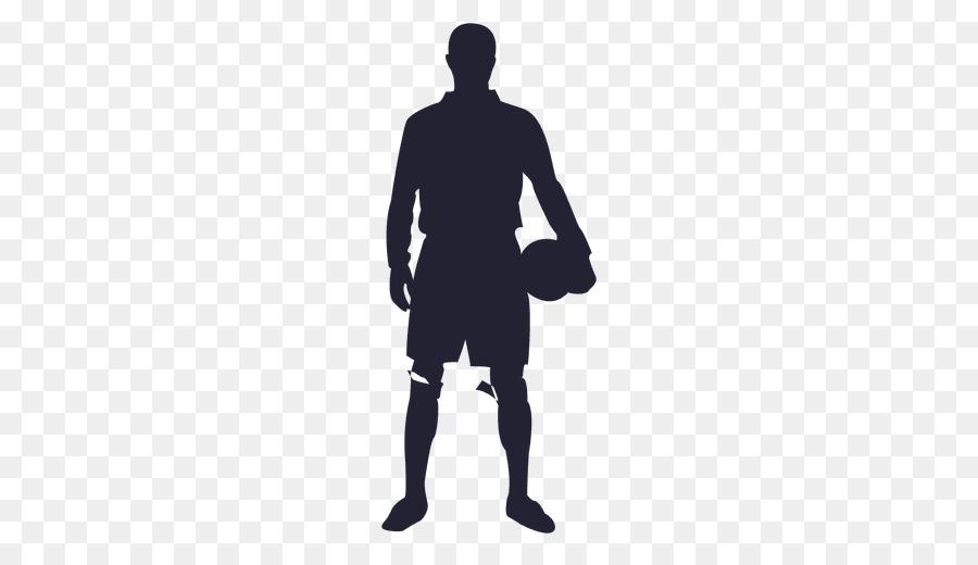 Fussballspieler Spielen Fussball Silhouette Figuren Material