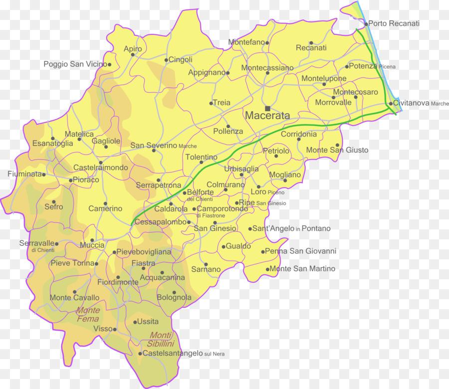 Macerata Provinz Fermo Karte Romischen Provinz Karte Von Italien
