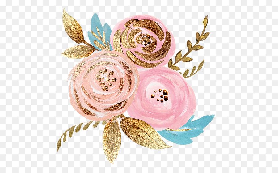 Rose Gold Flower Png Download 600 551 Free Transparent Flower Png Download Cleanpng Kisspng