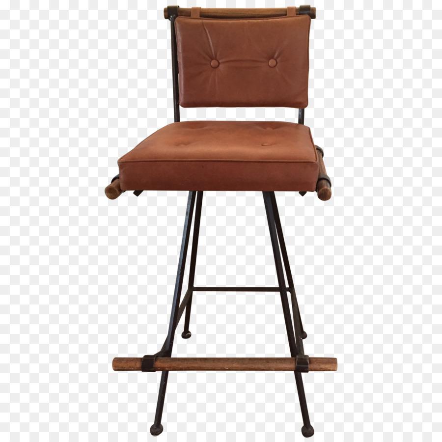 Bar Hocker Stuhl Armlehne Holz Echte Leder Stuhle Png