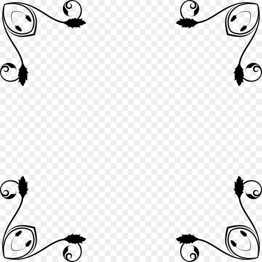 Black flower rattan frame, black, flower vine png   PNGEgg