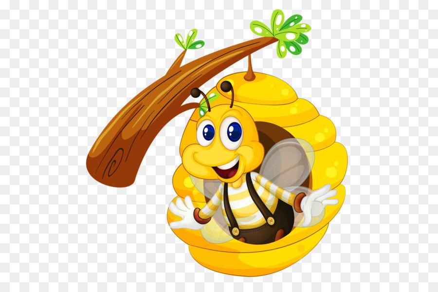 Картинка для детей пчелки и улей