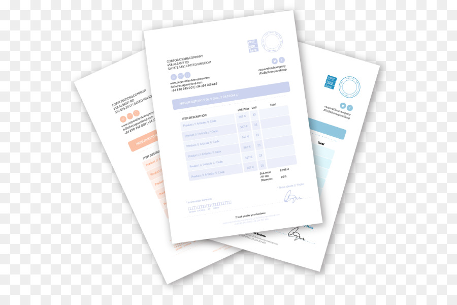 Drucken Der Rechnung Vorlage Formular Design Png