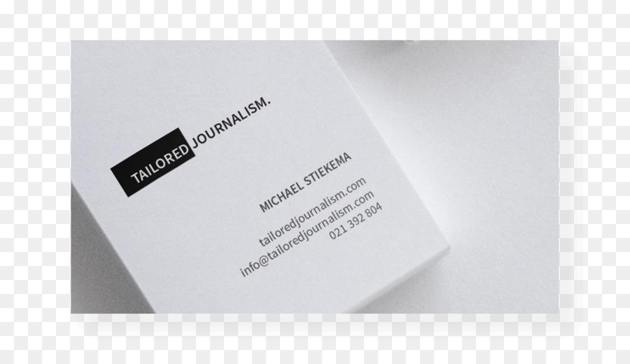 Visitenkarten Journalismus Werbung Marke Logo