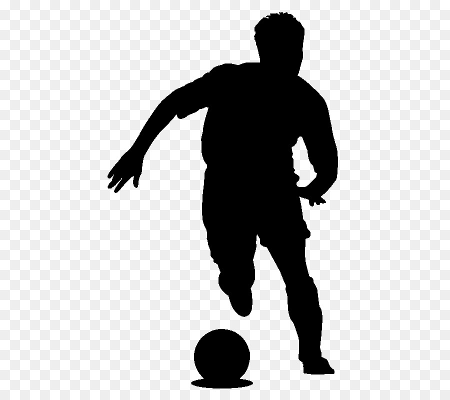 Fussball Spieler Aufkleber Sport Spielen Fussball Silhouette