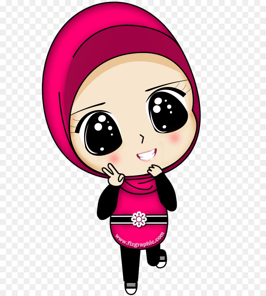 Hijab Cartoon png download   2020   Free Transparent Muslim ...