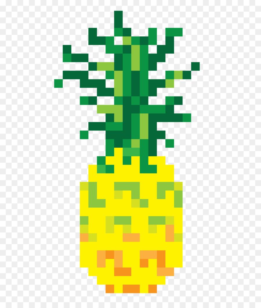 T Shirt Di Ananas Pixel Art Bit Manica Maglietta Scaricare