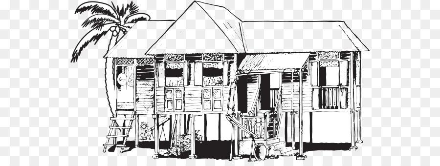 Die Kampung Boy Fertigungszeichnung Malaiischen Hauser