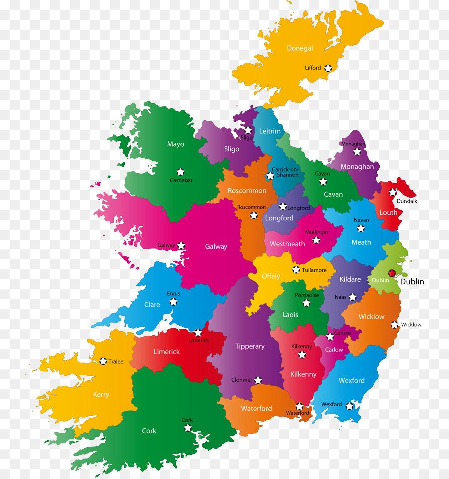 Landkreise Von Irland Weltkarte Anzeigen Png Herunterladen 800