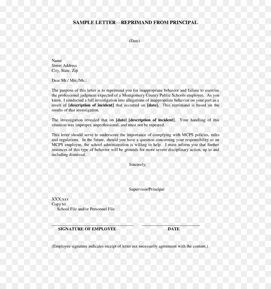 Sample Letter Of Reprimand For Teacher from banner2.cleanpng.com