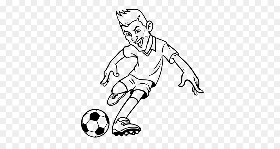 Malbuch Fussball Spieler Nach Vorne Zeichnen Fussball Png