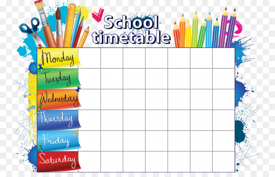 school timetable png download - 800 565