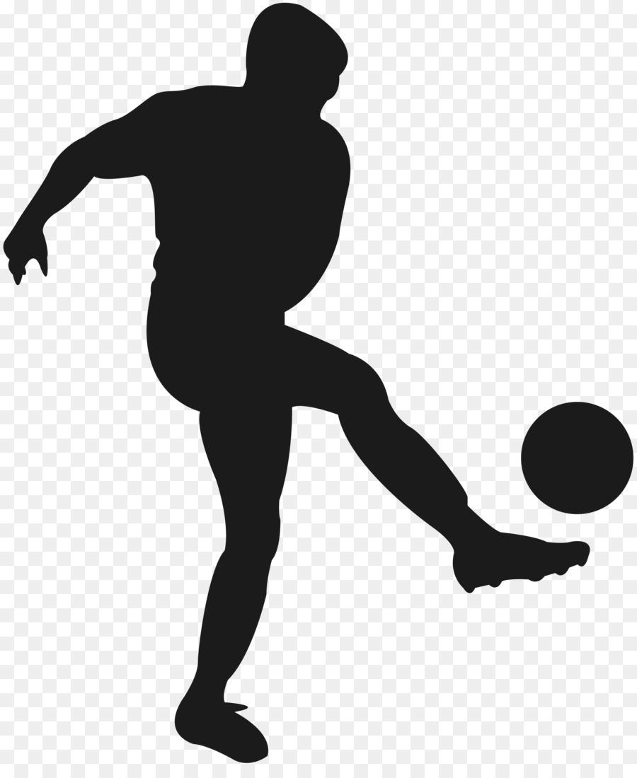 Fussball Spieler Sport Silhouette Fussball Png Herunterladen