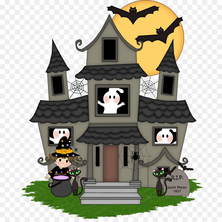 Haunted House Cartoon 776 900 Transprent Png Free Download Building House Cartoon Cleanpng Kisspng