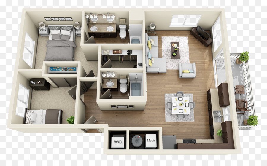 Grundriss Heatherbrae Commons Apartments Schlafzimmer ...