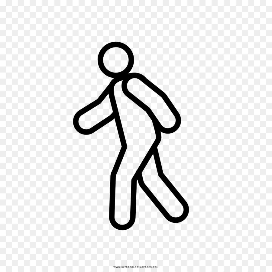 Disegno Da Colorare Clipart Uomo Che Cammina Scaricare Png