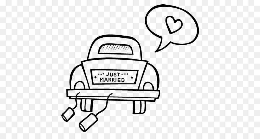automalbuch ehe zeichnung hochzeit  just married auto