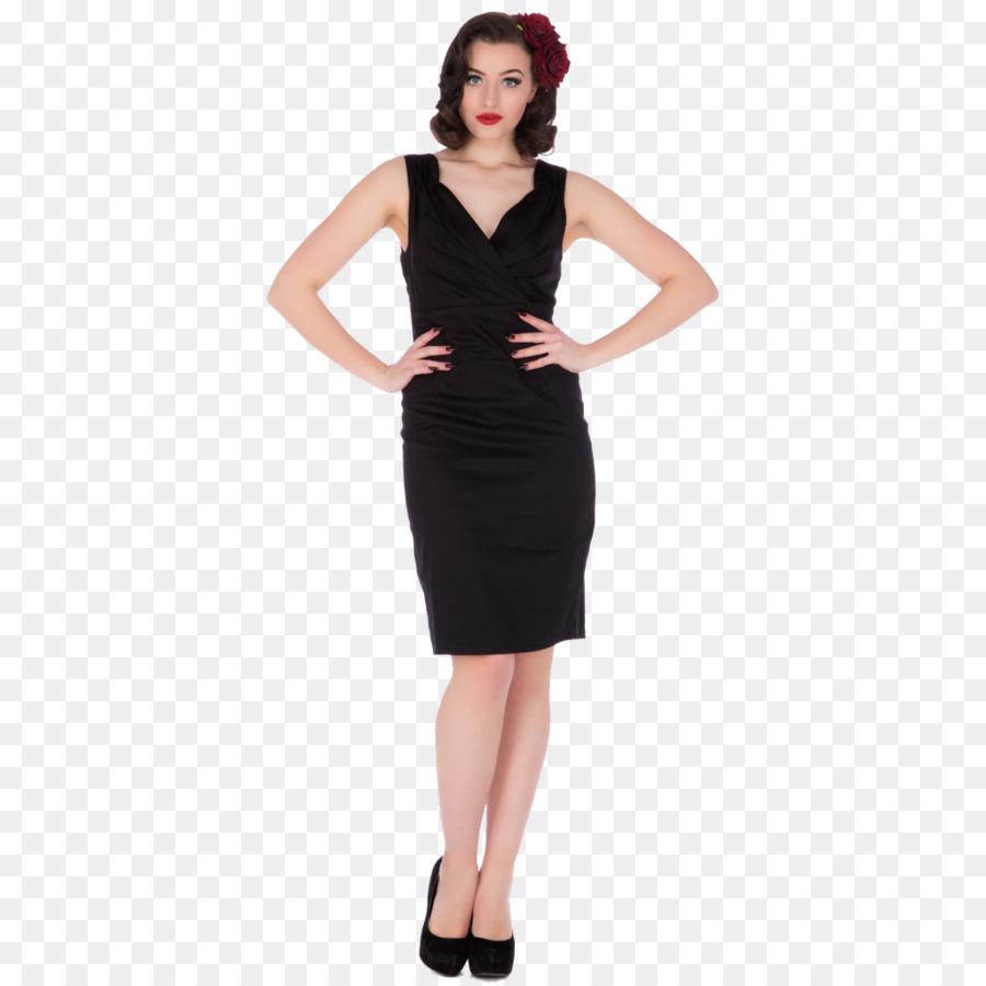 kleine schwarze kleid, retro-stil, dolly und schrullige