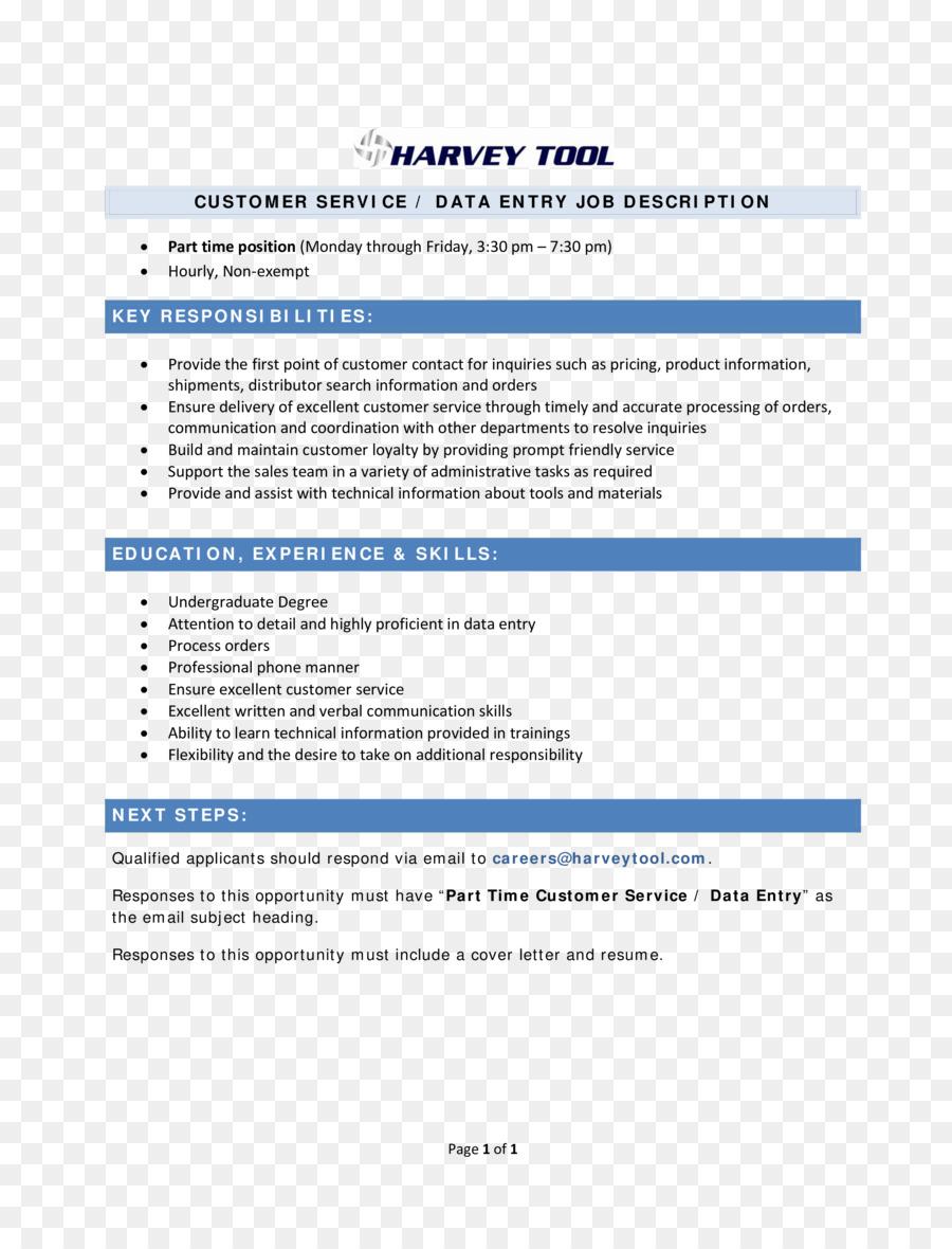 Dokument Zusammenfassung Data entry clerk Template Cover ...