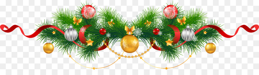 Christmas Tinsel Transparent Background.Christmas And New Year Background Png Download 1600 428