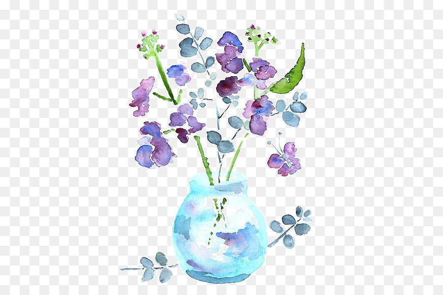 Floral-design-Aquarell Blumen Aquarell Badezimmer - Blume ...
