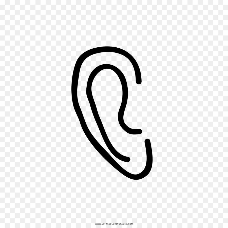 disegno ear auricolari libro da colorare  orecchio