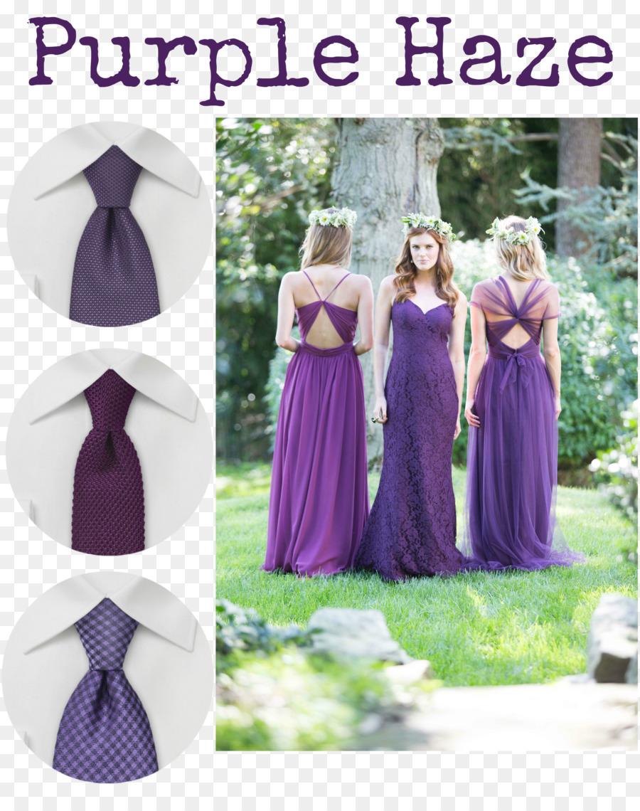 Hochzeit Kleid Lila Krawatte Brautjungfer - lila png herunterladen